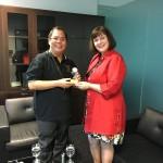 Mrs Kay Iswaran and Mr Chan